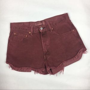 Levi's 550 Cut Off Shorts Dyed